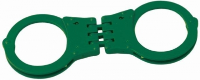 Neon Green Handcuffs (Dozen) - Mardi Gras Spot