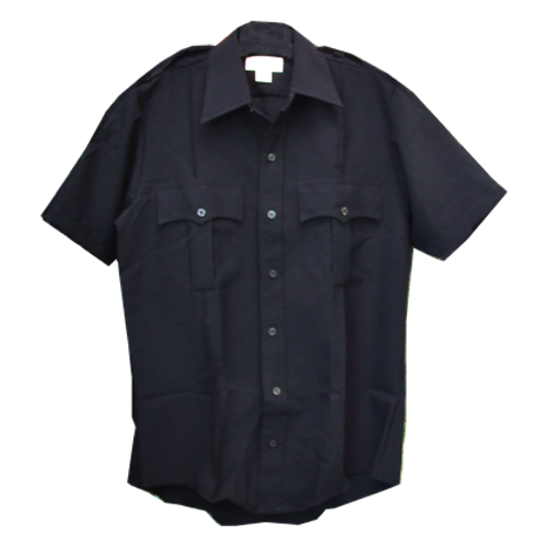 Liberty Uniform Zipper Front Police Shirt Navy