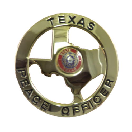 Texas Peace Officer: Premier 2004 Texas State Peace Officer Badge Gold