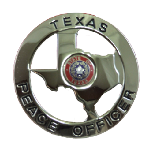 Texas Peace Officer: Texas State Peace Officer Badge Gold Or Silver