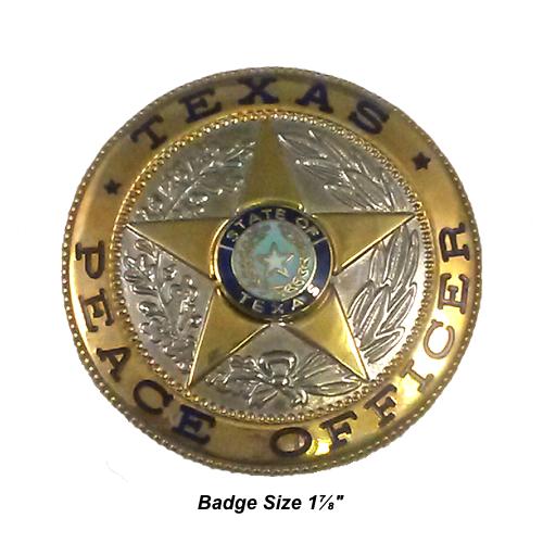 Texas Peace Officer: C.W. Nielsen SS-6 Nobletone Texas Peace Officer Badge